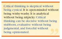 critical thinking what it is and why it counts importance of  this popular and often quoted essay about the meaning and importance of critical thinking was written by dr peter facione for students and the general