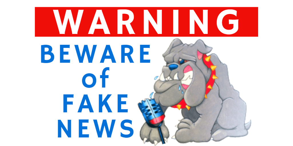 Warning Beware of Fake News