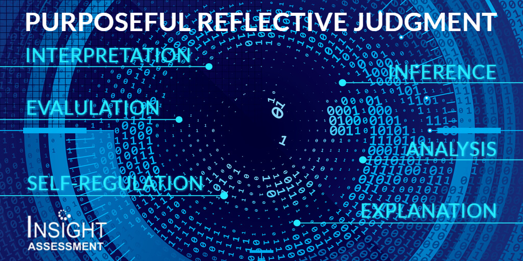 Critical thinking skills for purposeful reflective judgment