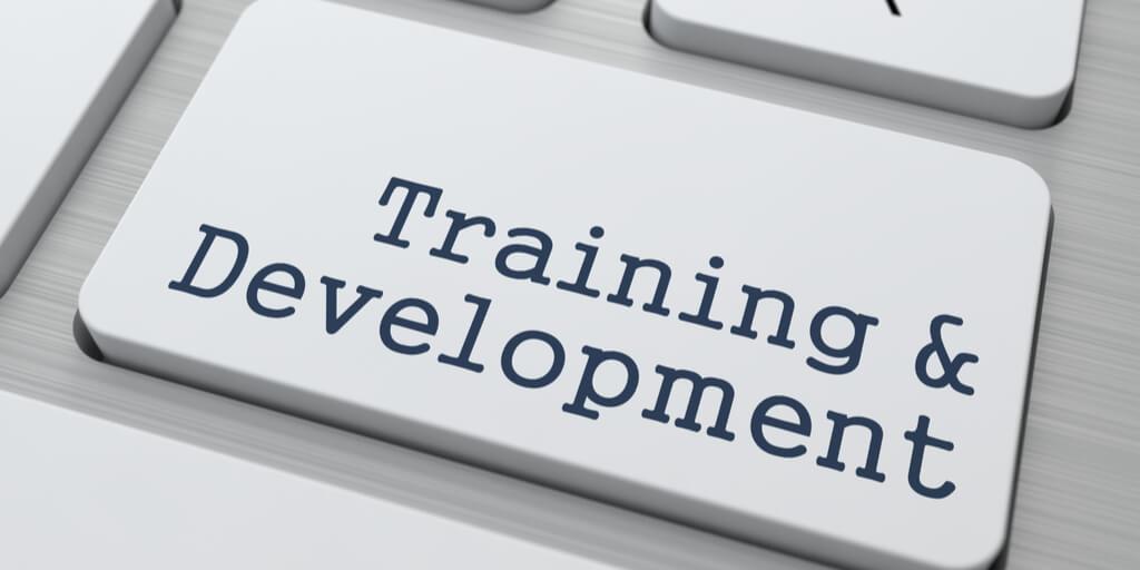 Training and Development Key on computer keyboard