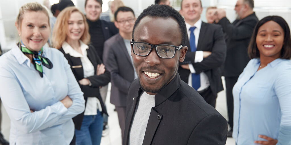Diverse Business Skills Team celebrating their success