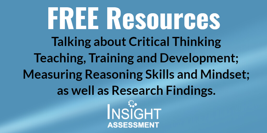 Free Critical Thinking Resources