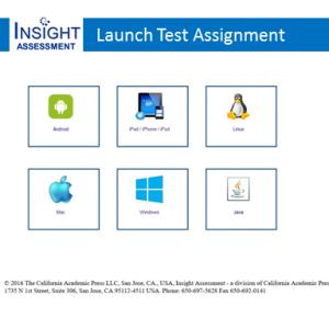 Insight Assessment App Based Test Administration Options