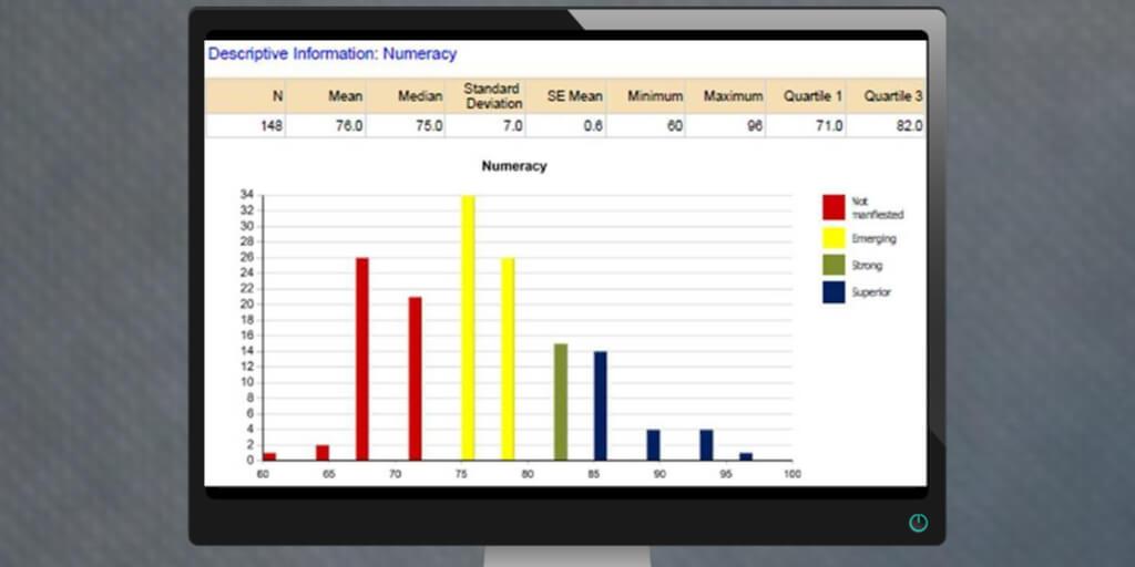 CSS Numeracy Report histogram