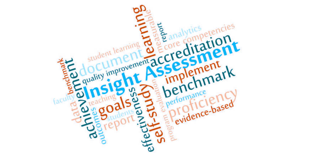 Word Cloud for Insight Assessment support of accreditation