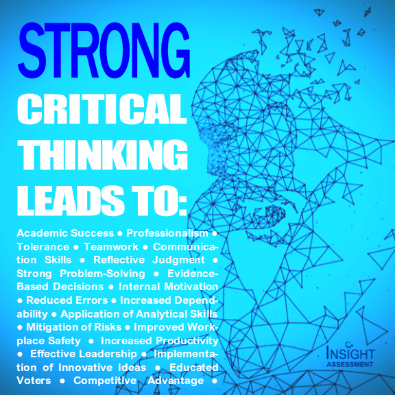 Strong Critical Thinking Leads to positive outcomes