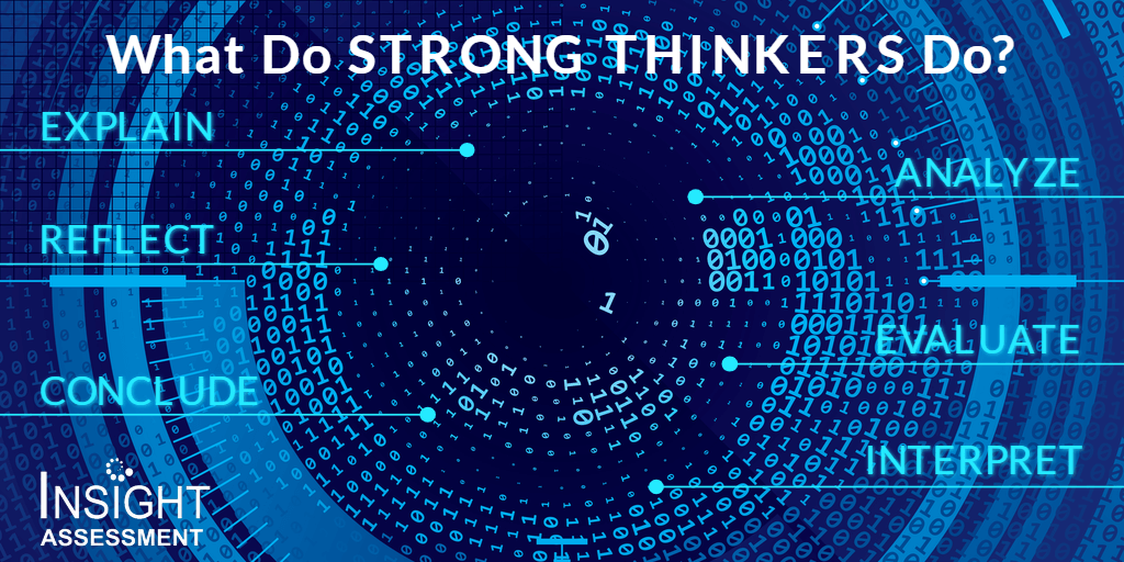What do strong thinkers do?